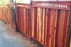 redwood fencing